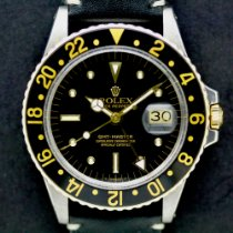 Rolex GMT-Master Gold/Stahl 40mm Schwarz Schweiz, Geneva