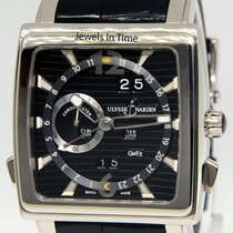 Ulysse Nardin Quadrato Dual Time Perpetual Or blanc 42mm Noir