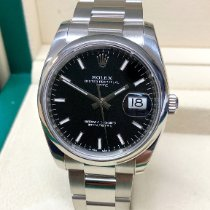 Rolex Oyster Perpetual Date Steel 34mm Black No numerals United Kingdom, Wilmslow