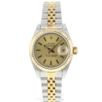 Rolex Lady-Datejust Goud/Staal 26mm Champagne