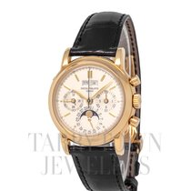 Patek Philippe Perpetual Calendar Chronograph Yellow gold 36.5mm Champagne United States of America, New York, Hartsdale