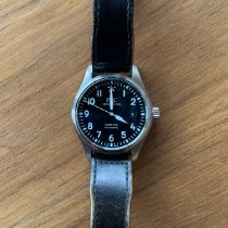 IWC Pilot Mark occasion 40mm Noir Date Cuir