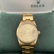 Rolex Oyster Perpetual Date Zuto zlato 34mm Zlatan Bez brojeva