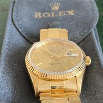 Rolex Oyster Perpetual Date Or jaune 34mm Or Sans chiffres