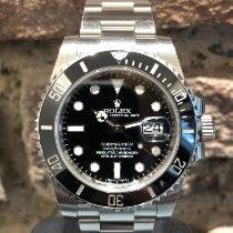 Rolex Submariner Date gebraucht 40mm Schwarz Datum Stahl