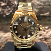 Rolex Lady-Datejust Желтое золото 26mm Коричневый Без цифр