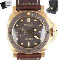 Panerai Bronze Automatic Brown 47mm pre-owned Luminor Submersible