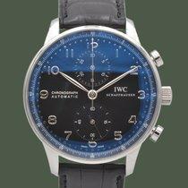 IWC Portuguese Chronograph Acciaio Nero Arabi Italia