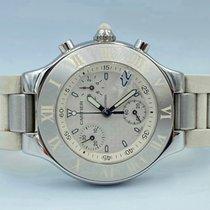 Cartier 21 Chronoscaph Acier 38mm Blanc