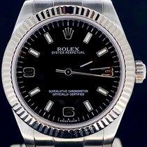 Rolex Oyster Perpetual 31 Acier 31mm Noir Romains