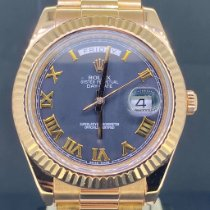 Rolex Day-Date II occasion 41mm Noir Date Or rose