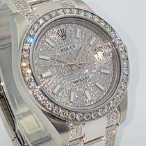 Rolex neu Automatik Zentralsekunde Edelstein- & Diamantenbesatz Chronometer Verschraubte Krone Schnellschaltung 41mm Stahl Saphirglas