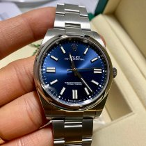 Rolex Oyster Perpetual Stahl 41mm Blau Keine Ziffern Schweiz, Luzern