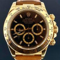 Rolex Daytona Желтое золото 40mm Черный Aрабские