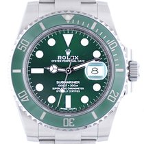 Rolex Automatic Green 41mm pre-owned Submariner Date