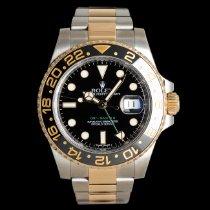 Rolex GMT-Master II Золото/Cталь 40mm Черный