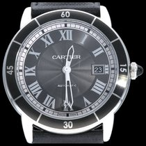 Cartier Ronde Croisière de Cartier Steel 42mm Grey Roman numerals