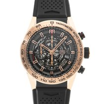TAG Heuer Automatic Black 45mm pre-owned Carrera Calibre HEUER 01