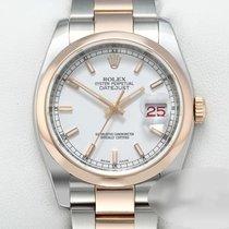 Rolex usado Automático 36mm Branco Vidro de safira