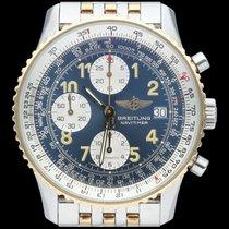 Breitling Old Navitimer occasion 41mm Bleu Chronographe Date Or/Acier