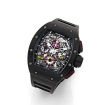 Richard Mille RM 011 pre-owned 50mm Transparent Chronograph Rubber
