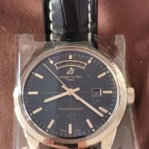 Breitling Transocean Day & Date Or rouge 43mm Noir Sans chiffres