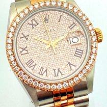 Rolex Datejust Stahl 36mm Pink Römisch