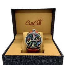 Gaga Milano Steel 48mm Manual winding 5011 new