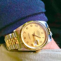 Rolex Datejust Gold/Steel 36mm Champagne Arabic numerals United States of America, Florida, Pembroke Pines