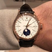 Rolex Cellini Moonphase Roségold Weiß