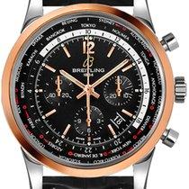 Breitling Transocean Chronograph Unitime new Automatic Chronograph Watch with original box UB0510U4-BC26-761P