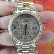 Rolex new Automatic 36mm Yellow gold Sapphire crystal