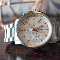 Mühle Glashütte 29er Chronograph Acero 42mm Blanco