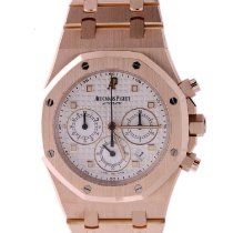 Audemars Piguet Royal Oak Chronograph Oro rosa 39mm Blanco Sin cifras