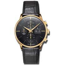 Junghans Meister Chronoscope Yellow gold Black No numerals
