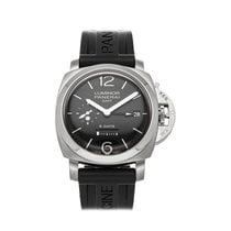 Panerai Luminor 1950 8 Days GMT Acero 44mm Negro Arábigos