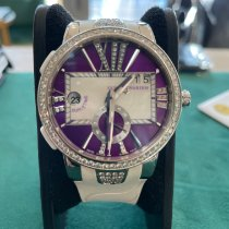 Ulysse Nardin Executive Dual Time Lady pre-owned Purple Rubber