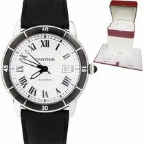 Cartier Ronde Croisière de Cartier occasion 42mm Argent Date Cuir