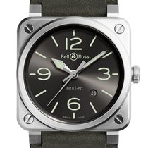 Bell & Ross BR 03-92 Steel BR0392-GC3-ST/SCA Nowy Stal 42mm Automatyczny