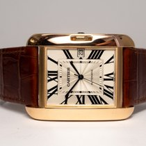 Cartier W5310004 Rose gold 2015 Tank Anglaise 47mm pre-owned