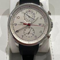 IWC Portugieser Yacht Club Chronograph gebraucht 45.4mm Silber Chronograph Datum Kautschuk
