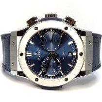 Hublot Classic Fusion Blue Титан 45mm Синий Без цифр
