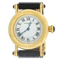 Cartier Diabolo Yellow gold 28mm White Roman numerals