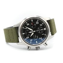 IWC Pilot Chronograph Zeljezo 42mm Crn Arapski brojevi