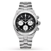 Vacheron Constantin Overseas Chronograph Steel 42.5mm Black No numerals