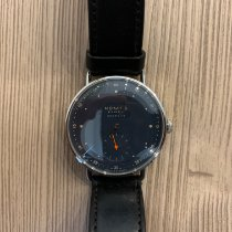 NOMOS Metro Neomatik pre-owned 35mm Blue Leather