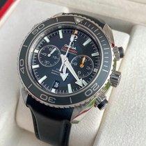 Omega Acier Remontage automatique Noir 44,5mm occasion Seamaster Planet Ocean Chronograph