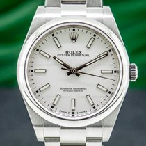 Rolex Oyster Perpetual 39 Steel 39mm White United States of America, Massachusetts, Boston