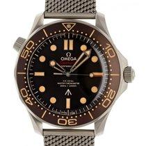 Omega Seamaster Diver 300 M gebraucht 12mm Braun Titan