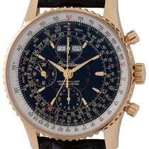 Breitling Montbrillant Datora Yellow gold 43mm Black